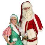 Rondlopende Kerstman & Kerstvrouwtje